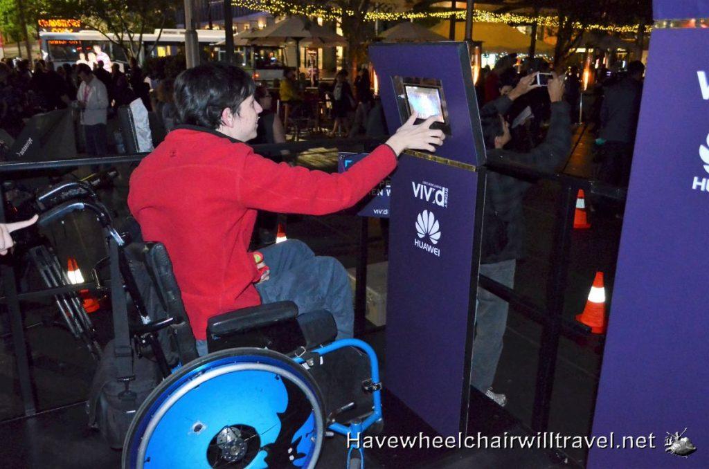 wheelchair access at Vivid Sydney 2016