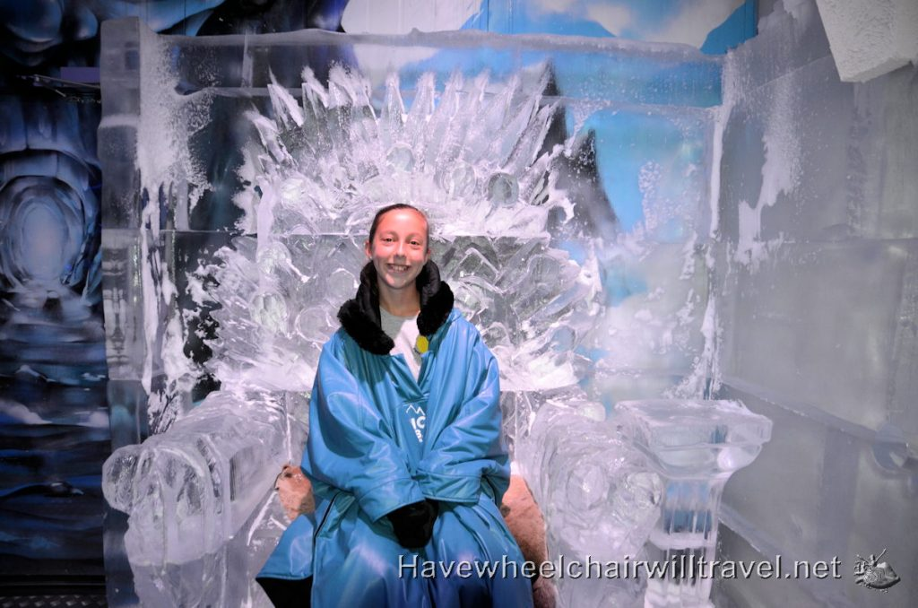 Ice Bar Melbourne - cool wheelchair accessible fun