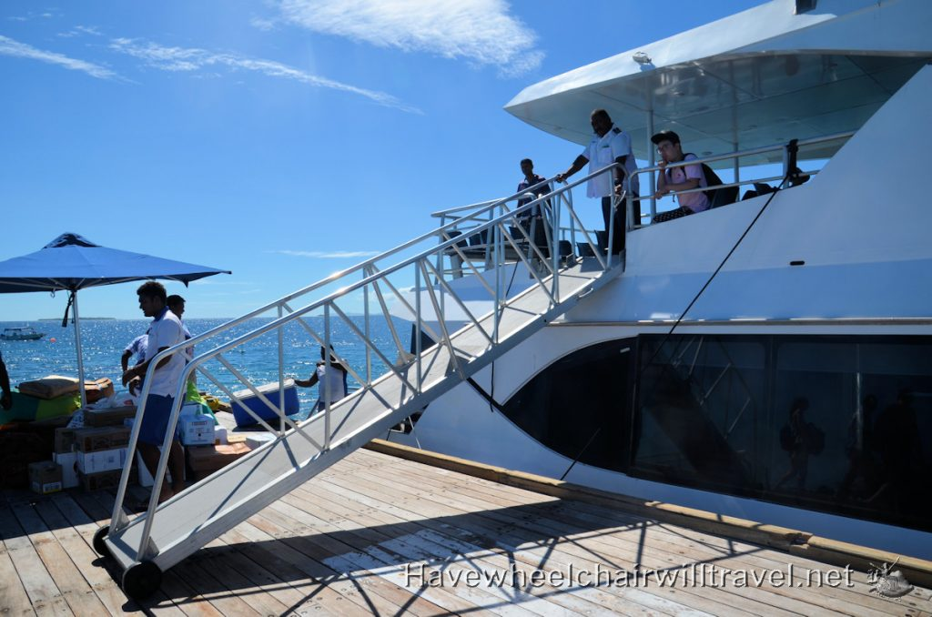 Malamala Beach Club Fiji boat transfer- accessible Fiji- Have Wheelchair Will Travel
