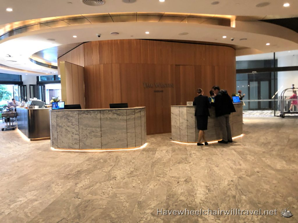 Westin Brisbane Lobby - Accessible Accommodation Brisbane - Have Wheelchair Will Travel