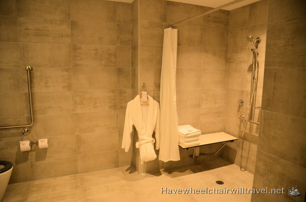 The Westin Brisbane - Wheelchair Accessible Bathroom Recess - Accessible Accommodation Brisbane - Have Wheelchair Will Travel