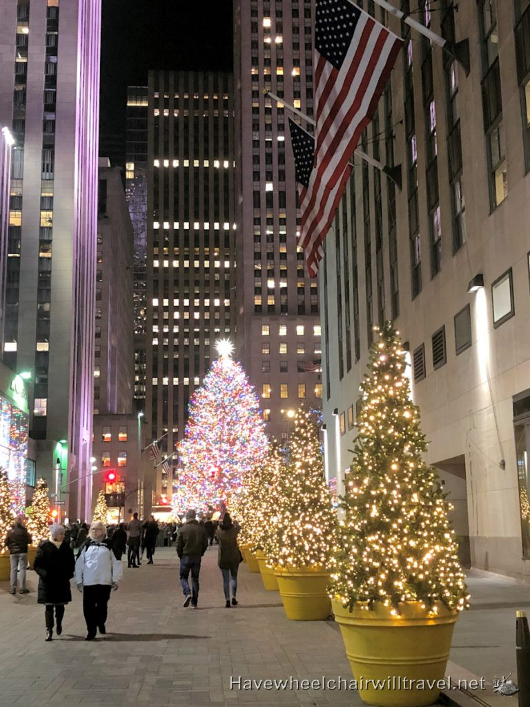 Rockefeller Plaza Christmas Tree - Have Wheelchair Will Travel