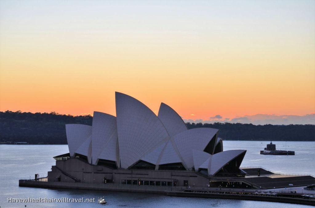 Sunrise on Sydney Harbour.