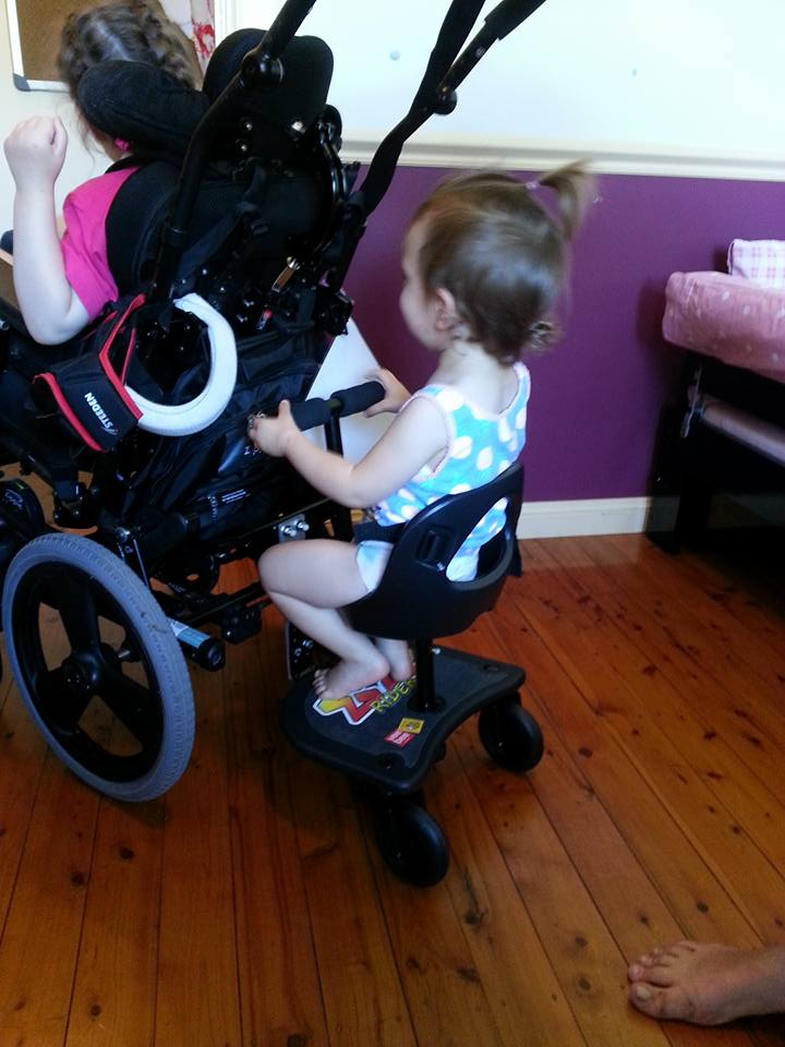 Modifying a wheelchair for a sibling