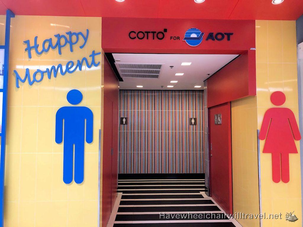 Accessible bathroom facilities Bangkok Airport