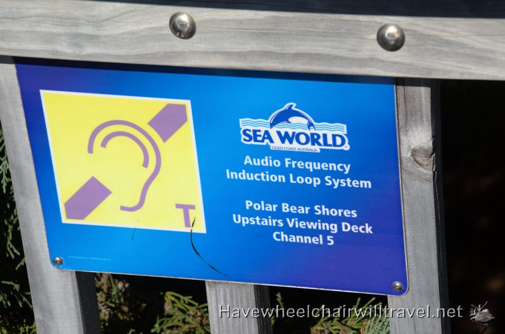 Hearing loop at Sea World