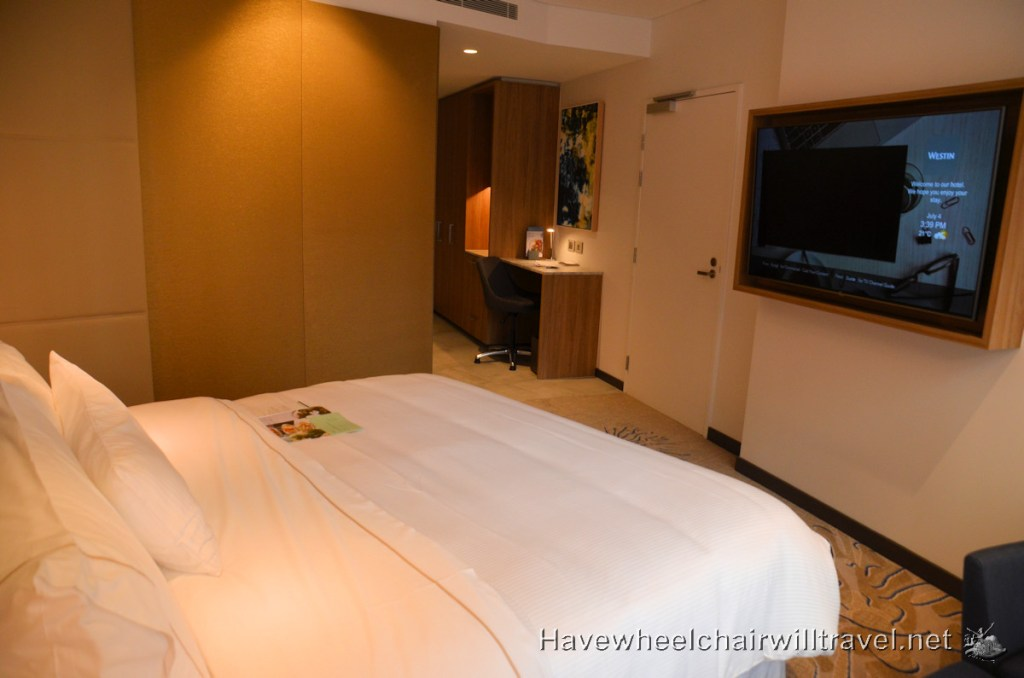 The Westin Brisbane - Heavenly Bed and Bedroom Access - Accessible Accommodation Brisbane - Have Wheelchair Will Travel