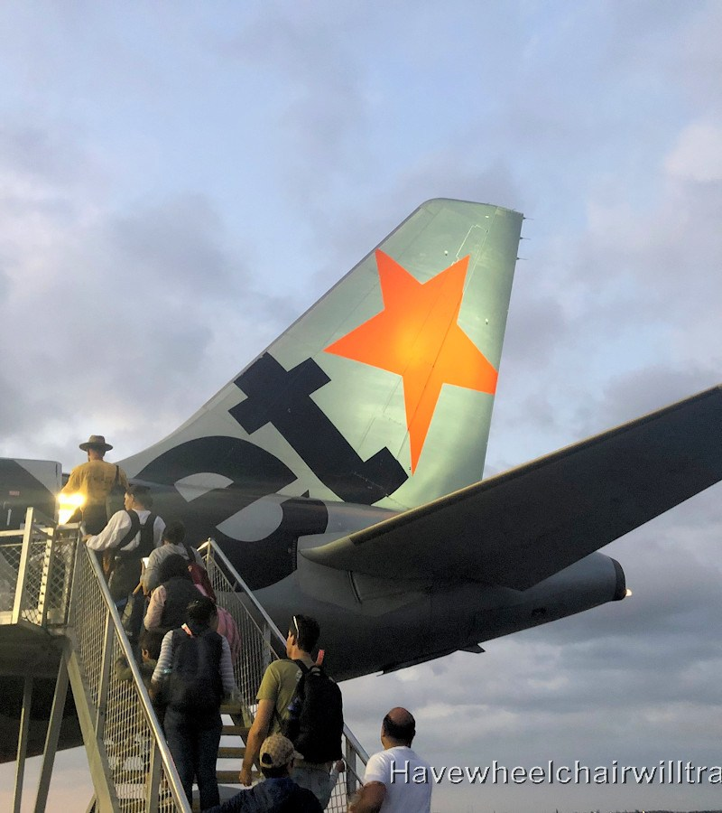 Jetstar budget airline review - Jetstar plane - Have Wheelchair Will Travel