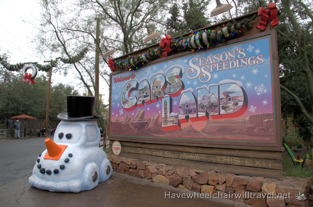 Disneyland at Christmas - Cars Land - Have Wheelchair Will Travel