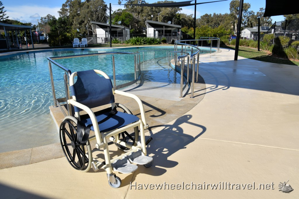 Swansea Lakeside Holiday Park swimming pool wheelchair access - Have Wheelchair Will Travel