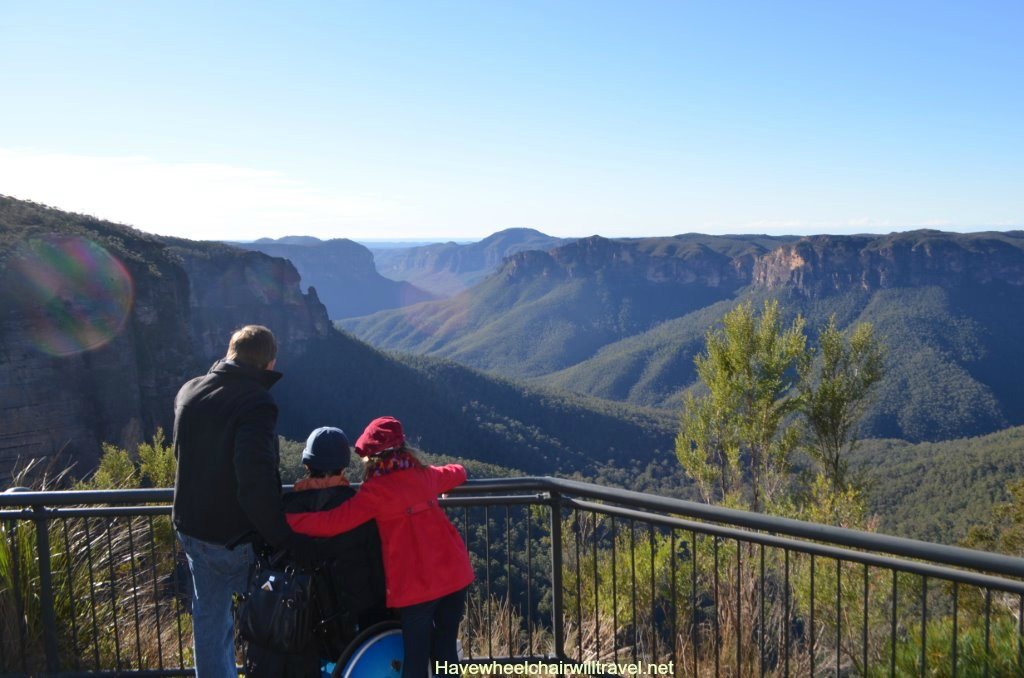 Blue Mountains wheelchair accessible guide - Govett's Leap - Have Wheelchair Will Travel