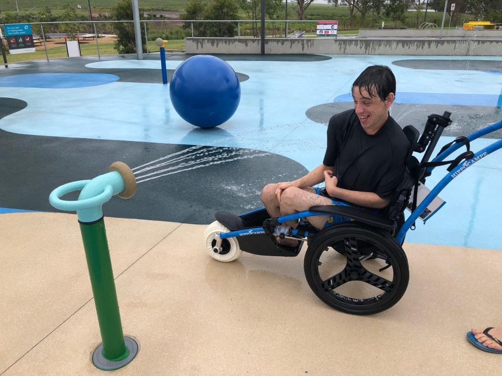 Dawson Damer Water Park - water wheelchair