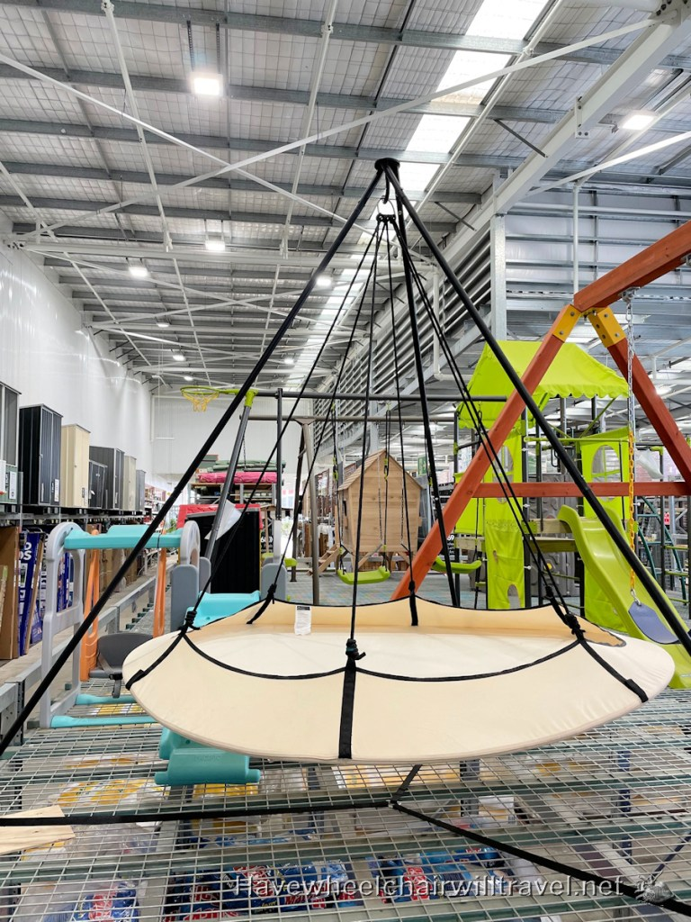 Bunnings swing - Have Wheelchair Will Travel