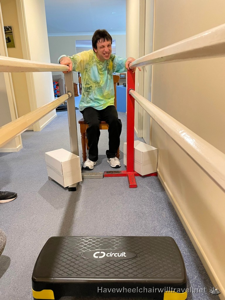 Creating an accessible home therapy gym - Have Wheelchair Will Travel