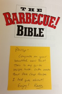 BBQ Bible note