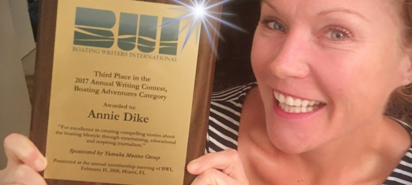 Third Place in the Boating Writers International Writing Contest!