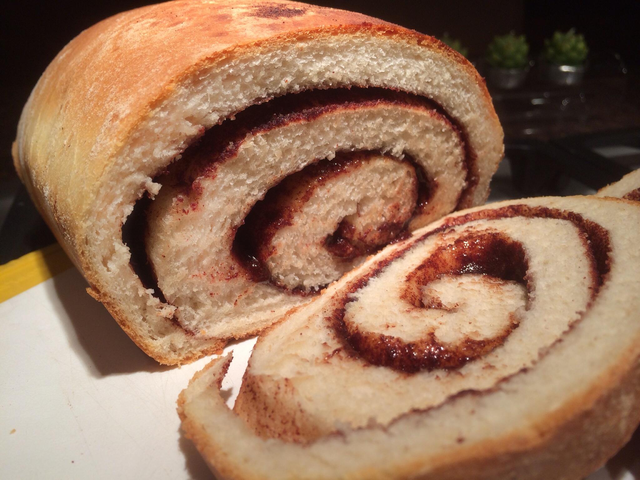 cinnamon home baked bread