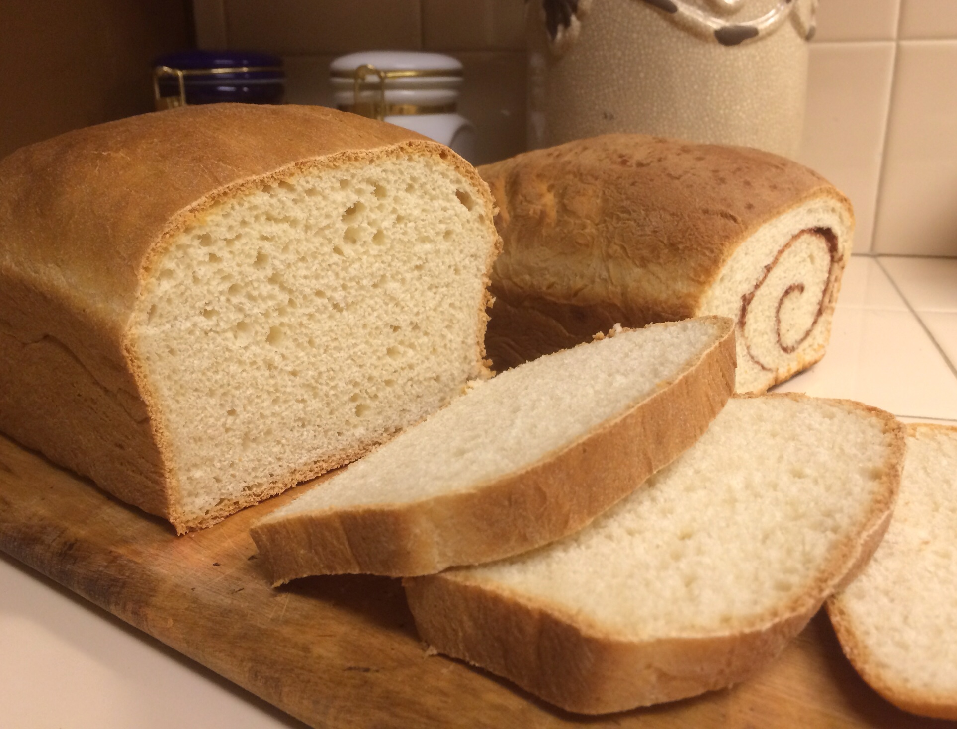 fresh baked white bread