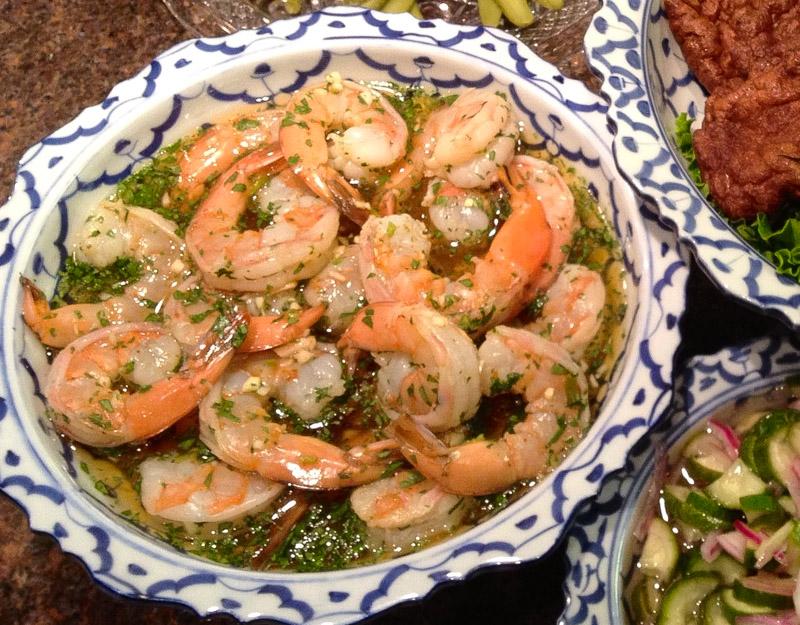 thai prawns