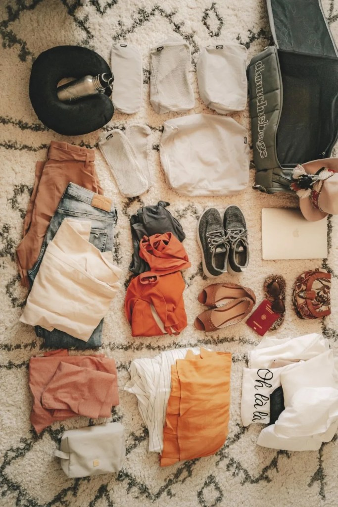 Flatlay of clothes