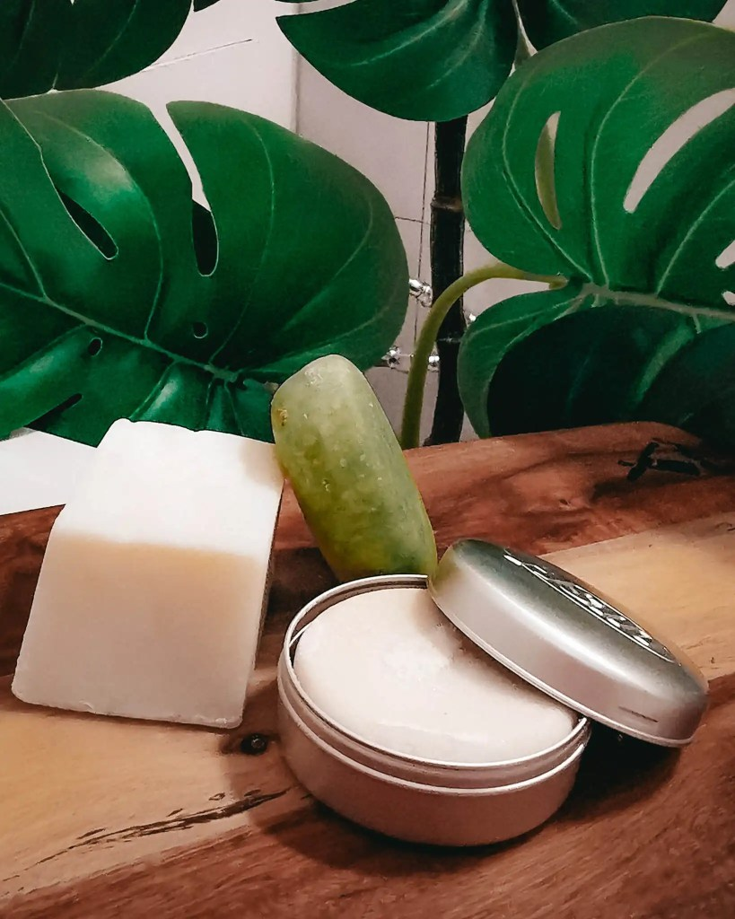 Grouping of sustainable hair and body care products