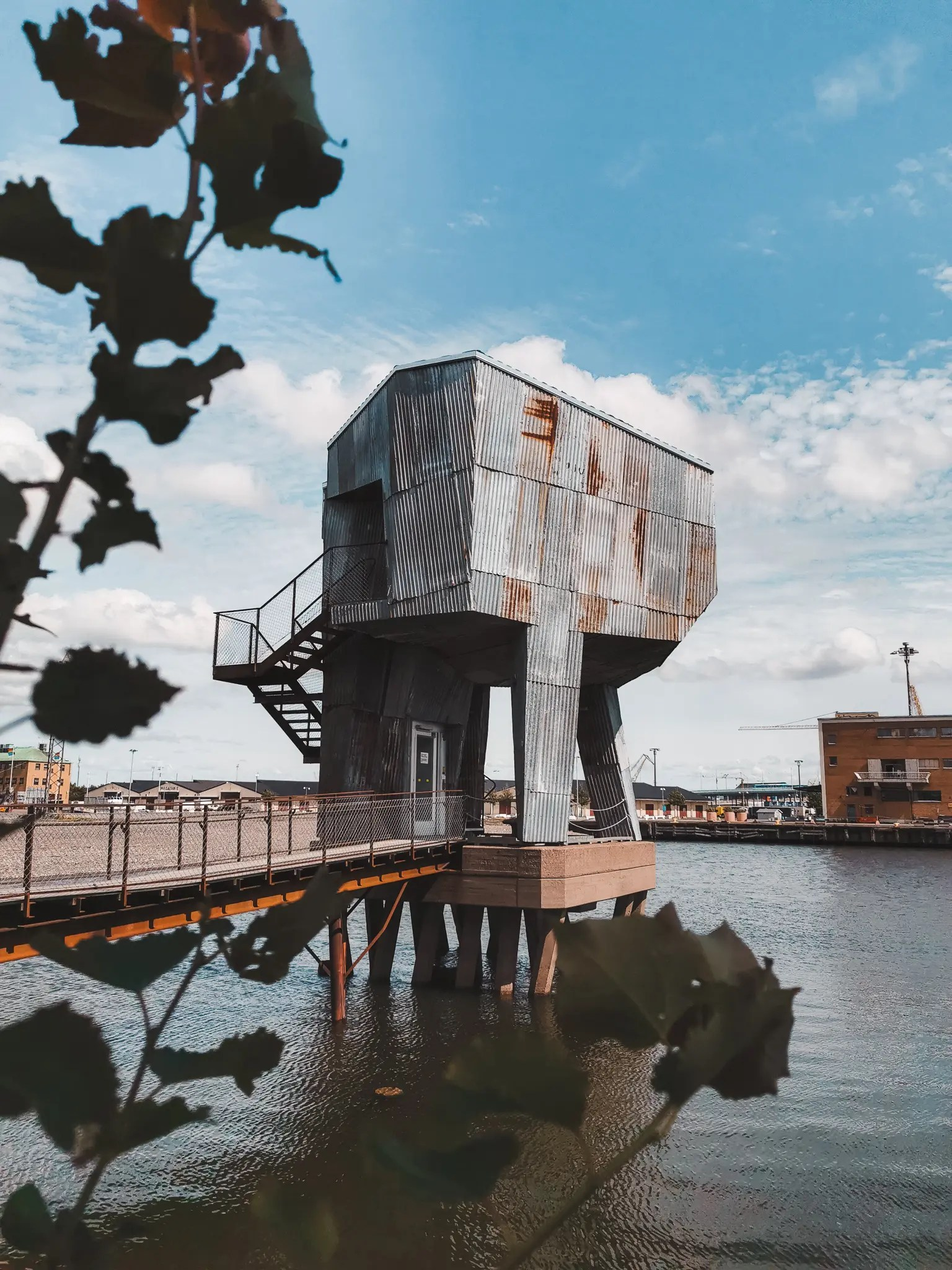 Frihamnen sauna in Gothenburg, Sweden.
