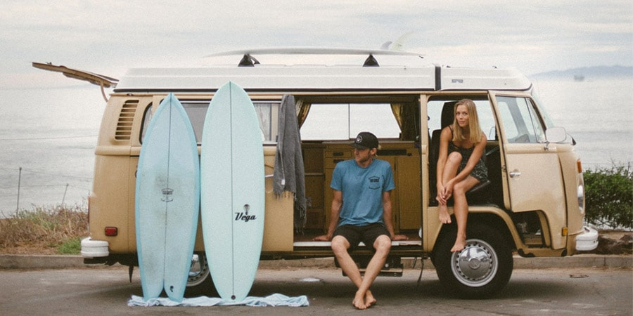 surf trip en van