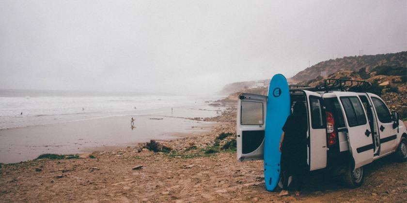 roadtrip surf maroc