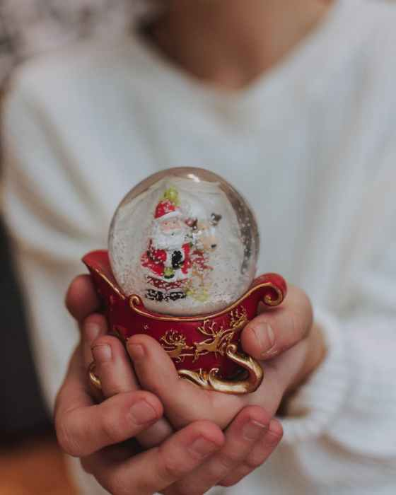 santa claus crystal ball