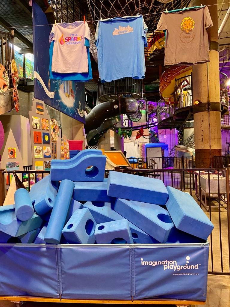 Big Blue Blocks at Spark Children's Museum in Dallas