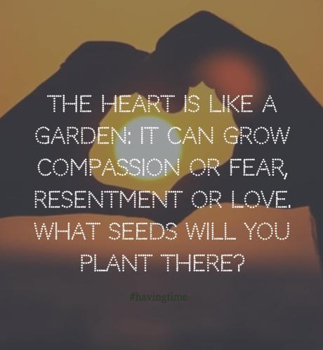 the heart is like a garden