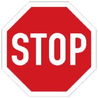 Stopka: dopravní značka