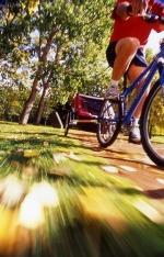 S vozíkem můžete jezdit po silničkách i cestách.