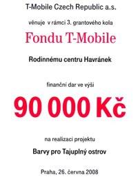 z grantu T-Mobile jsme na hřiště získali 90 tisíc korun