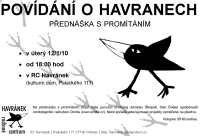 plakát: pozvánka na přednášku o havranech