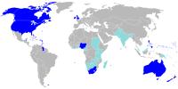 země, kde je angličtina oficiálním jazykem