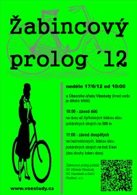 plakát - pozvánka na Žabincový prolog 2012