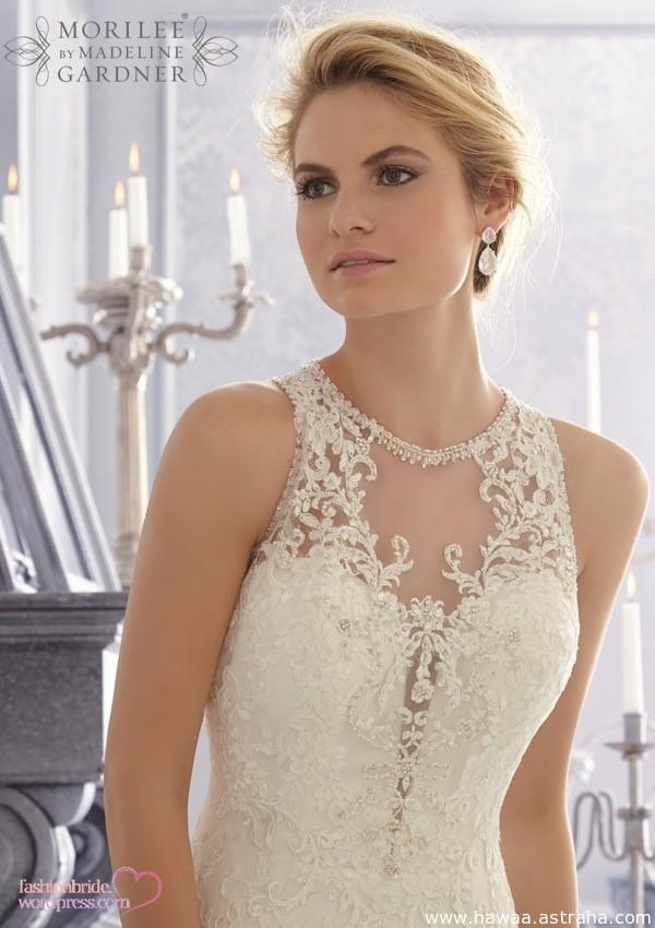 حصري فساتين زفاف فرنسية فخمة جدا 2015 Wedding Dresses