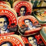 ハワイと言えばやっぱりオバマさん、そんなオバマさんミント缶がお土産に人気です。