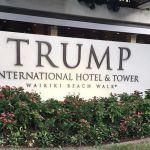 トランプ大統領ハワイ11月4日。ワイキキを出発しトランプホテルにより空港に向かいました。7AM(No.5)