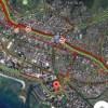ハワイのハイウェイ(H1)で11:20に車の横転事故で大渋滞中です!!