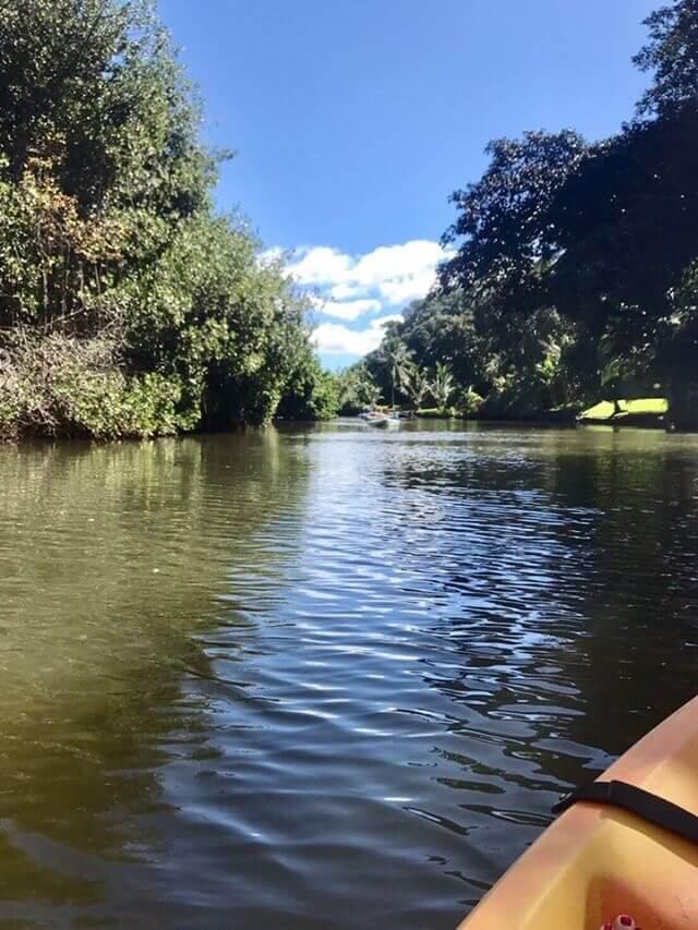 カヌーをノースショアで体験