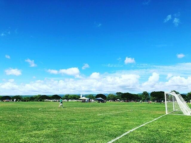 ハワイでサッカー