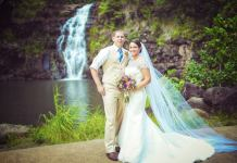 Waimea Wasserfall Oahu Hochzeit