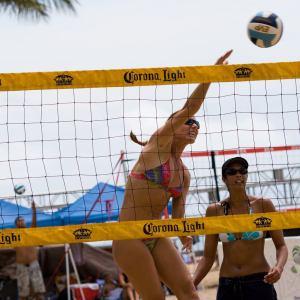 Beach Volleyball in Waikiki Hawaii