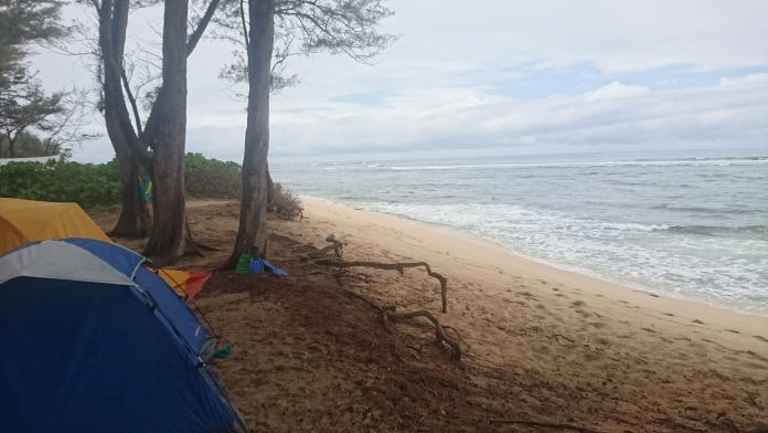 Camping auf Oahu in Hawaii