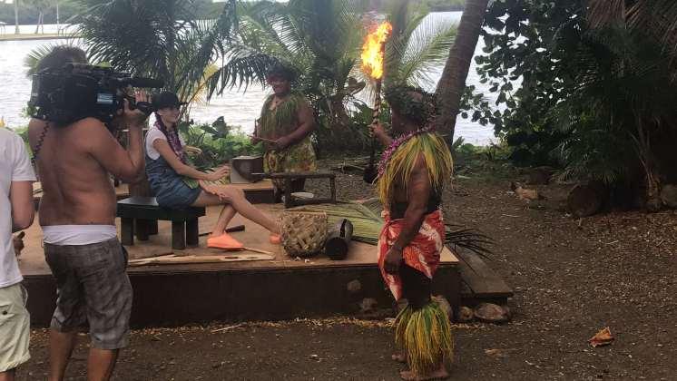 Feuertanz Hawaii mit Betty Taube