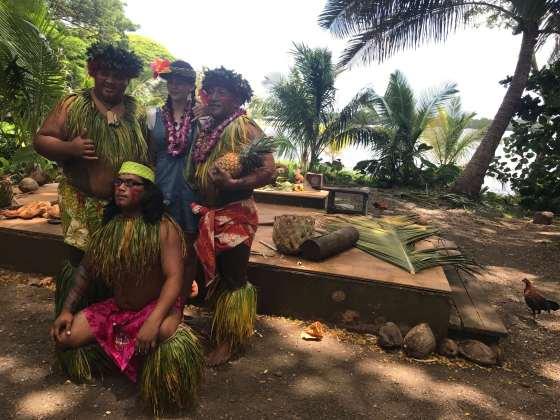 Betty Taube in Hawaii im Hawaiianischen Dorf