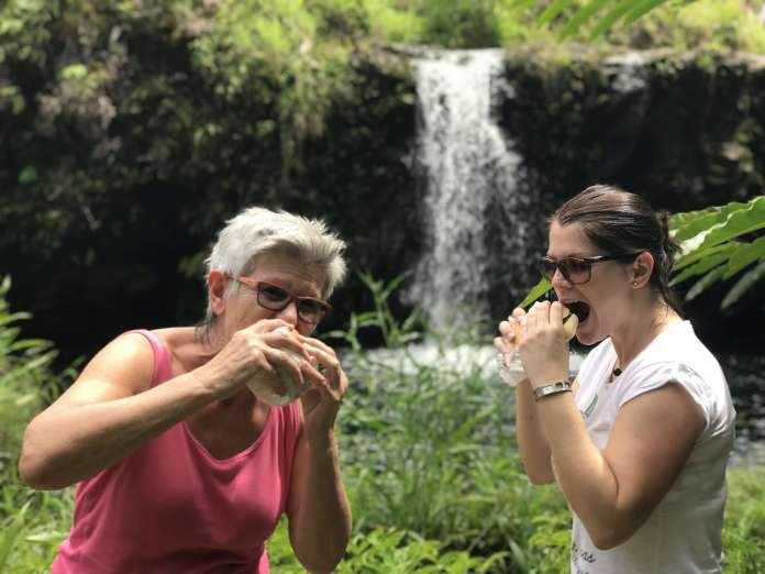 Mittagessen am Wasserfall auf Maui