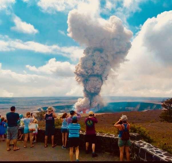 Vulkanausbruch Hawaii - Big Island Vulkan